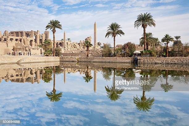 temple of amun-re at the temples of karnak, luxor, egypt - egypt stock pictures, royalty-free photos & images