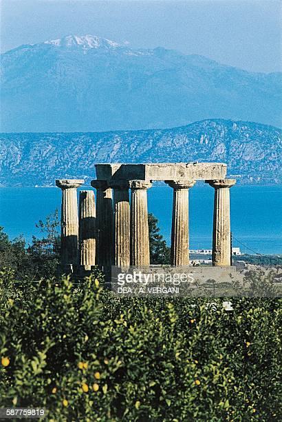 Temple of Apollo 540 BC Corinth Greece Greek civilisation 6th century BC