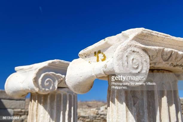 Temple of Apollo, Delos, Cyclades Islands, Southern Aegean, Greece