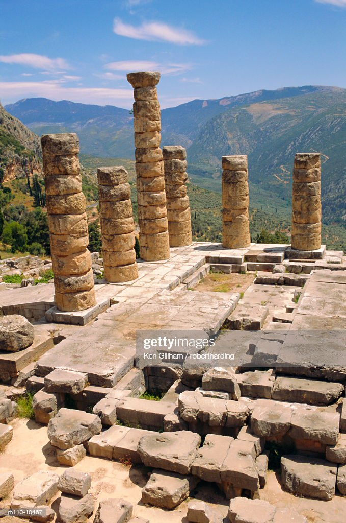 Temple of Apollo, Delphi, Greece : Foto de stock