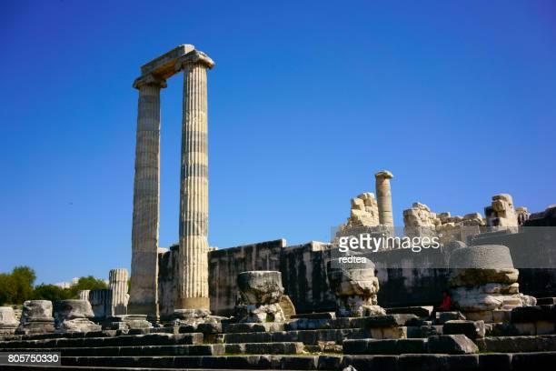 templo de apolo didyma - cultura grega - fotografias e filmes do acervo