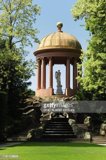 Temple of Apollo garden of Schwetzingen Castle BadenWurttemberg Germany