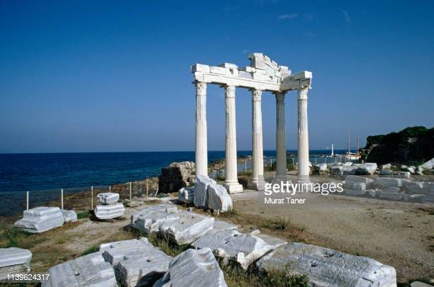 temple of apollo in side - ancient greece photos stock pictures, royalty-free photos & images