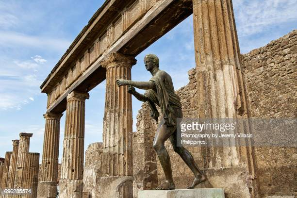 temple of apollo, pompeii - classical greek style stock pictures, royalty-free photos & images