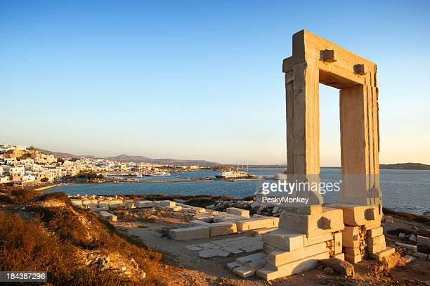 Temple of Apollo Portara Arch at Naxos Greece