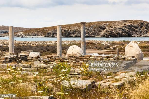 Temple of Artemis, Delos Archaeological Site, Delos, near Mykonos, Greece