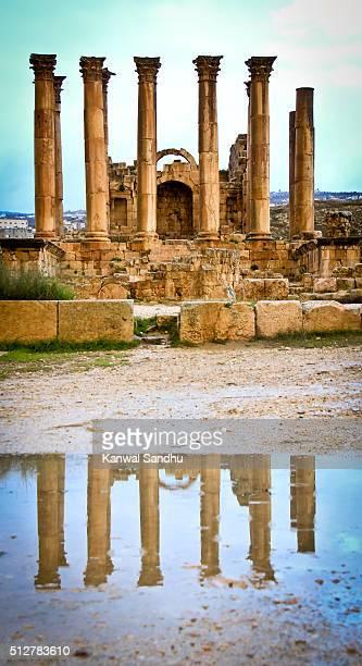 Temple of Artemis in Jerash Archaeological site