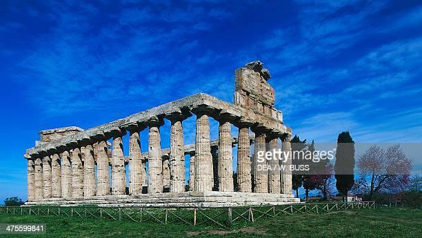 Temple of Athena or Ceres Paestum Campania Italy Greek civilisation 5th century BC