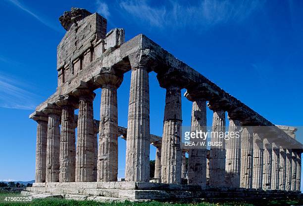 Temple of Athena or Ceres Paestum Campania Italy Greek civilisation 5th century BC