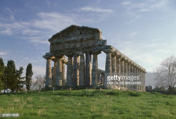 Temple of Athena or Ceres Paestum Capaccio Campania Italy Magna Graecia civilization 6th century BC