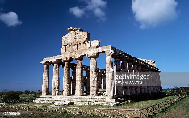 Temple of Athena or the Temple of Ceres Paestum Campania Italy Greek civilisation 6th century BC