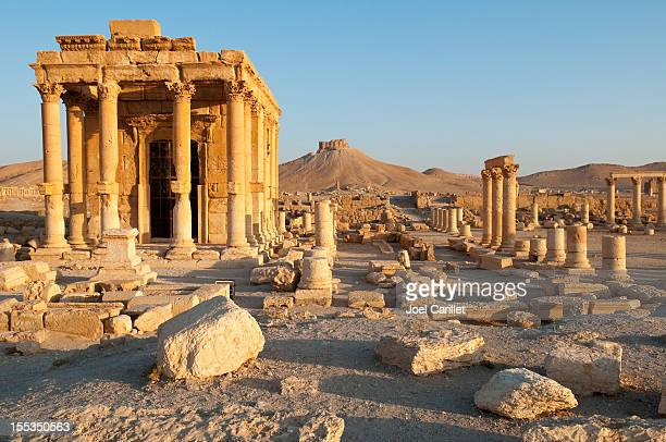 temple of baal shamin in palmyra, syria - syria stock pictures, royalty-free photos & images