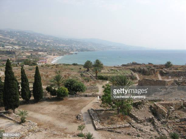 temple of baalat gubal in byblos - www images com stock photos and pictures
