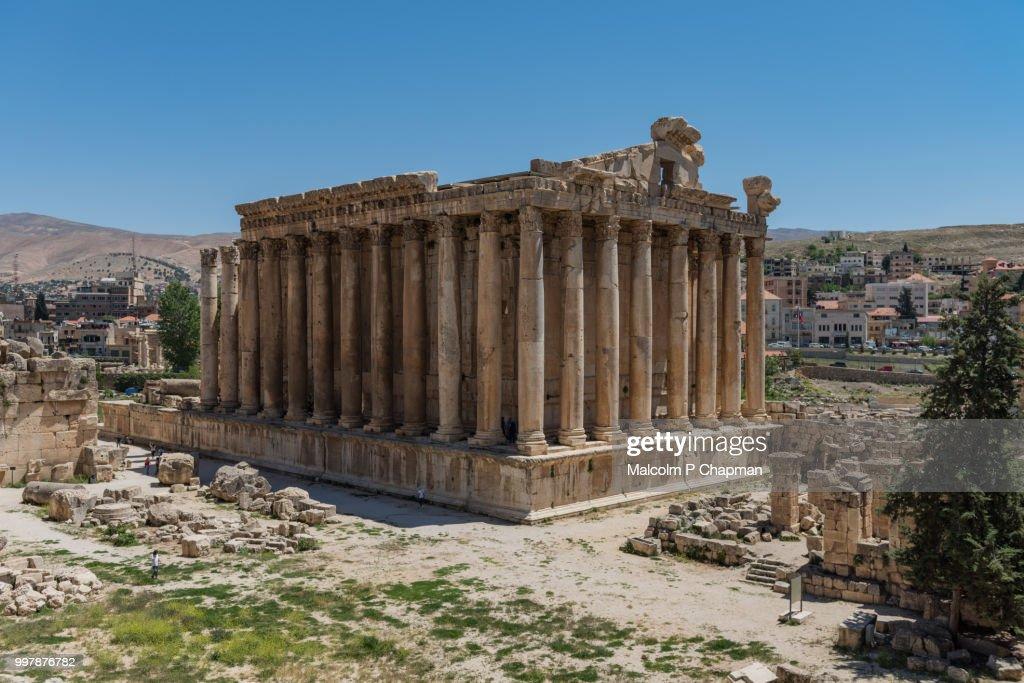 Temple of Bacchus at Heliopolis, Baalbek, Bekaa Valley, Lebanon : ストックフォト