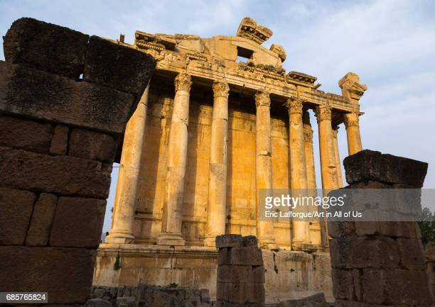 Temple of Bacchus in the archaeological site Beqaa Governorate Baalbek Lebanon on May 1 2017 in Baalbek Lebanon