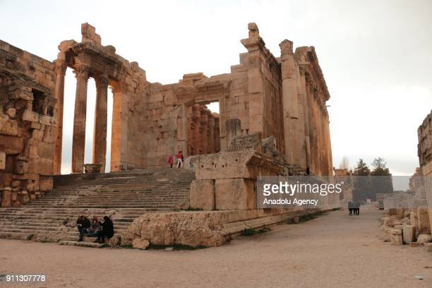 Temple of Bacchus one of the Roman temple ruins is seen at the ancient city of Baalbek in Lebanons eastern Beqaa province on January 28 2018