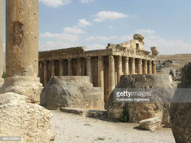 temple of bacchus, roman heliopolis, baalbek - argenberg stock pictures, royalty-free photos & images