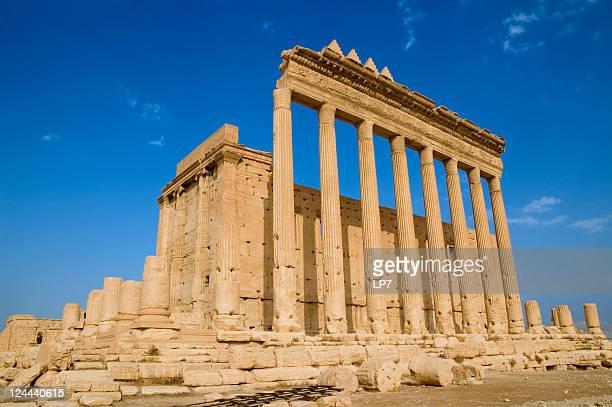 temple of bel palmyra syria - palmyra stockfoto's en -beelden