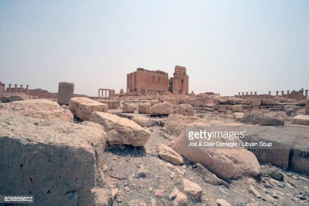 temple of bel, palmyra, syria. - syrian culture stock photos and pictures