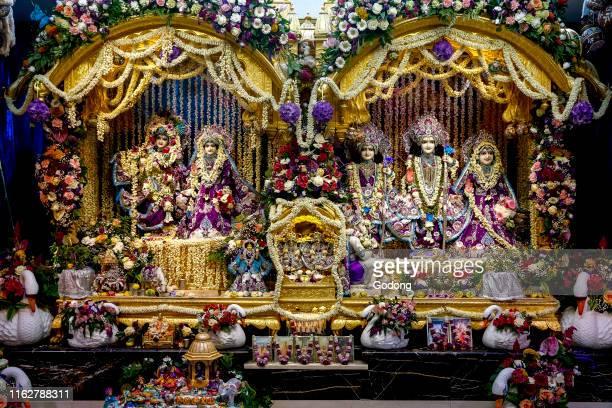 Temple of Bhaktivedanta manor during Janmashtami hindu festival Watford UK
