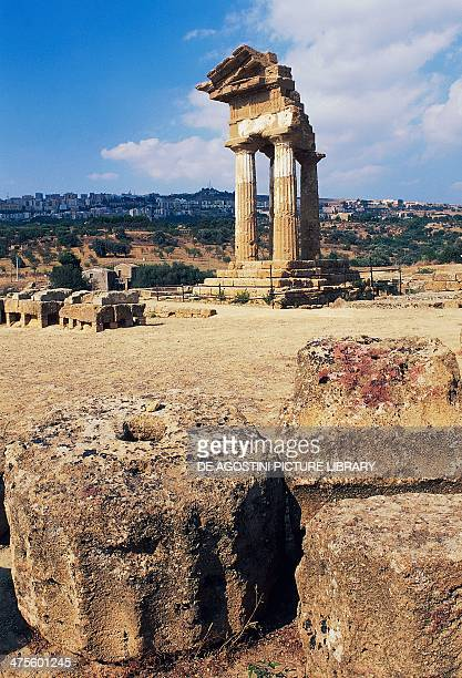 Temple of Castor and Pollux Agrigento Sicily Italy Greek civilisation 5th century BC