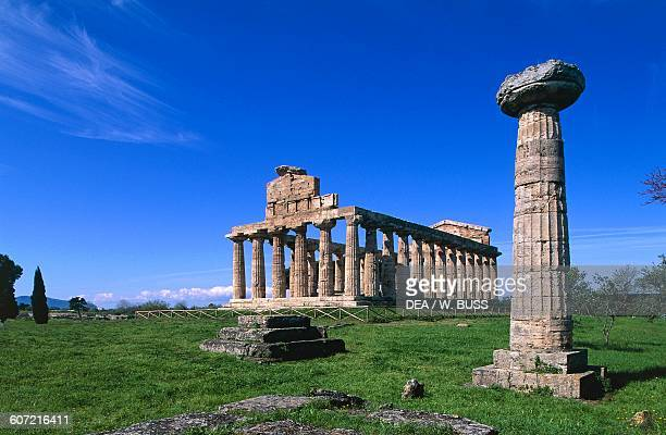 Temple of Ceres Paestum archaeological site Campania Italy 6th century BC