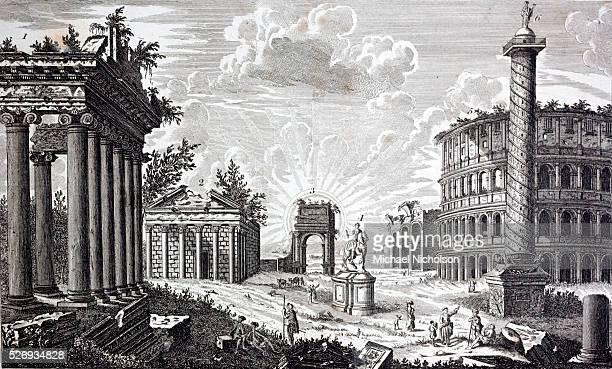 Temple of Concord 2 Temple of Antoninus 3 Arch of Titus 4 Stutue of Marcus Aurelius 5 Marcellus's Theatre 6 Trajan's Pillar