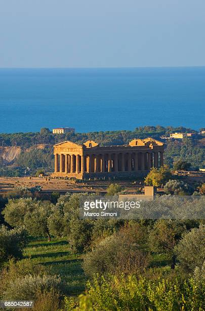 temple of concordia, valley of the temples, agrigento, sicily, italy - agrigento stock pictures, royalty-free photos & images