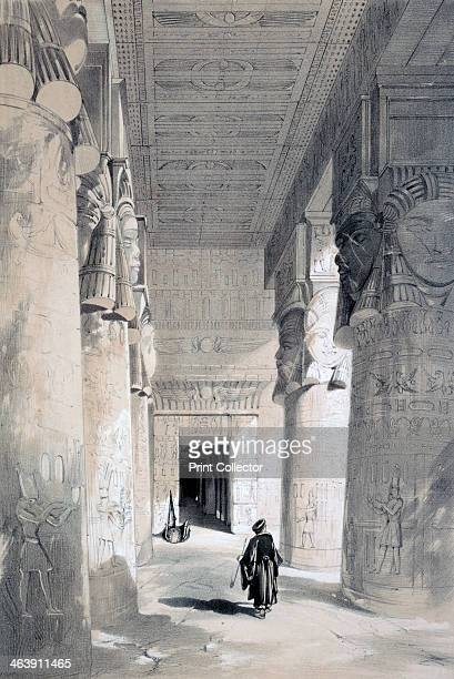 'Temple of Denderah' Egypt 19th century The Temple of Hathor at Dendera was probably built in the 1st century BC in the late Ptolemaic period From...