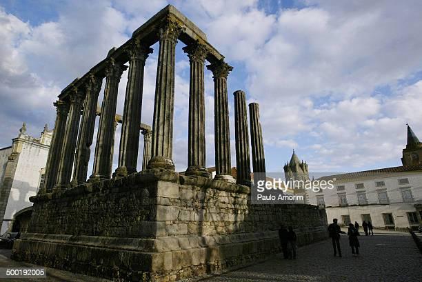 Temple of Diana in Evora,Portugal.