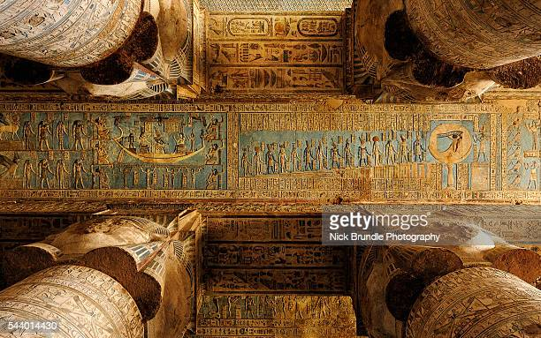 temple of hathor, dendera, egypt - egyptian god stock pictures, royalty-free photos & images