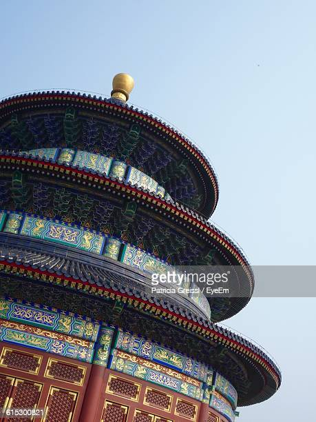 temple of heaven against clear sky - temple of heaven stock pictures, royalty-free photos & images