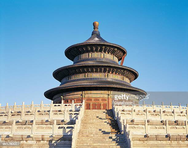 temple of heaven, beijing, china - temple of heaven stock pictures, royalty-free photos & images