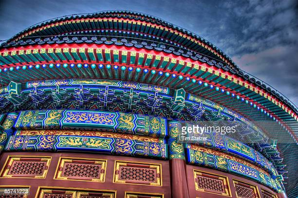 temple of heaven detail - temple of heaven stock pictures, royalty-free photos & images