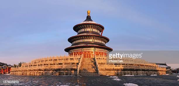 templo do céu, faomus marco em pequim, china-xxxg - templo - fotografias e filmes do acervo