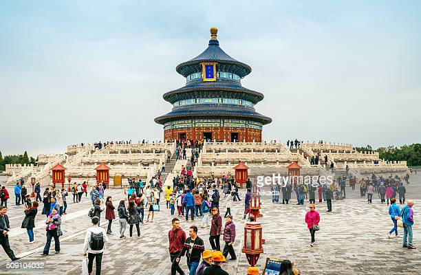temple of heaven in beijing, china - temple of heaven stock pictures, royalty-free photos & images