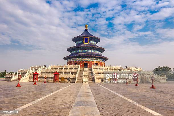 temple of heaven in beijing - temple of heaven stock pictures, royalty-free photos & images