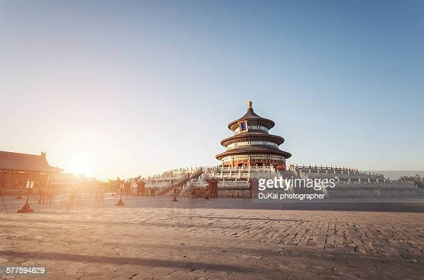temple of heaven - beijing province stock photos and pictures