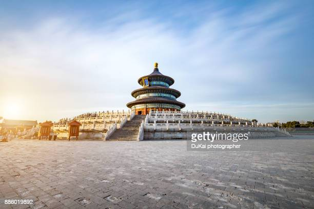 temple of heaven - famous place stock pictures, royalty-free photos & images