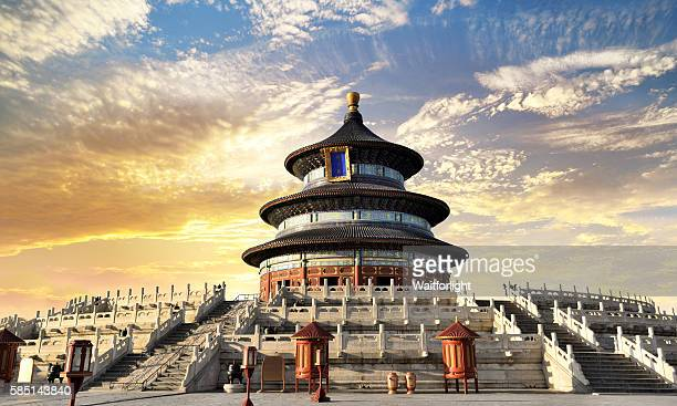 temple of heaven scenary in beijing,china. - beijing stock pictures, royalty-free photos & images