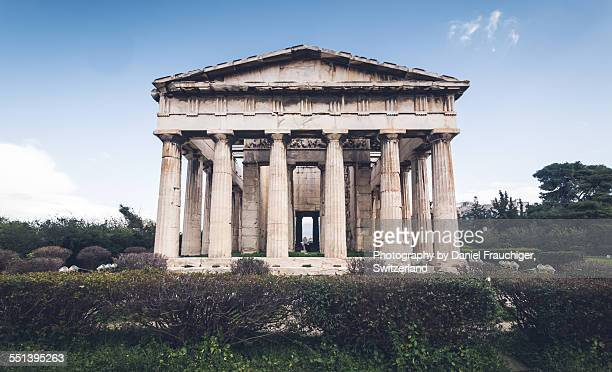 temple of hephaestus - ancient greece stock pictures, royalty-free photos & images