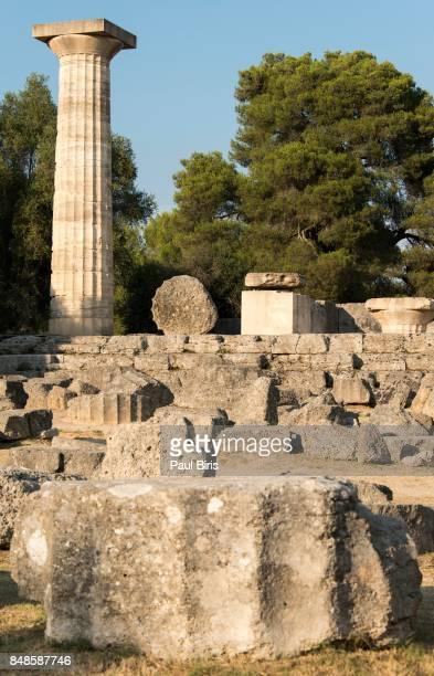 Temple of Hera, Ancient Olympia, Illia Region, Peloponnese, Greece