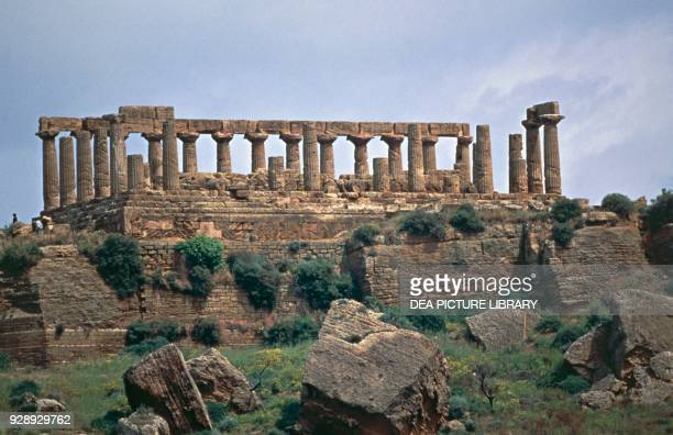 Temple of Hera Lacinia or Juno, or Temple D, Valley of the Temples of Agrigento , Sicily, Italy. Magna Graecia civilization, 5th-4th century BC.