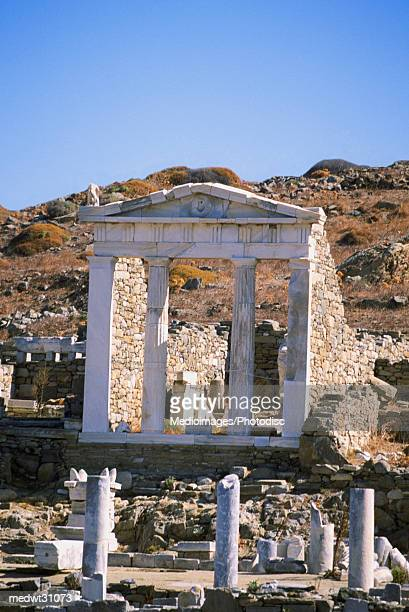 Temple of Isis on the island of Delos, Greece