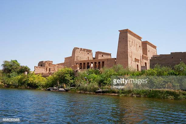 Temple Of Isis On The Island Of Philae As Seen From The Water Aswan Egypt