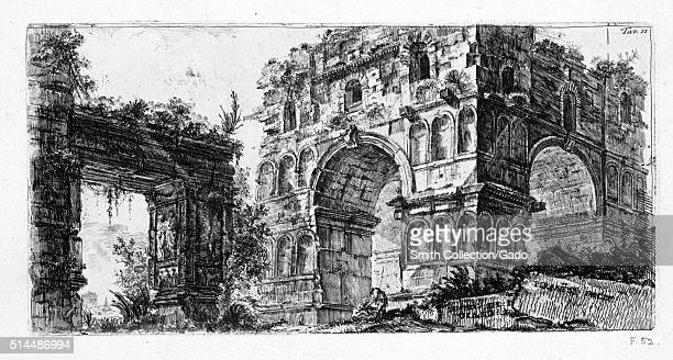 Temple of Janus Italy 1749 From the New York Public Library This print by John WiltonEly depicts an imagined architectural feature from an etching by...
