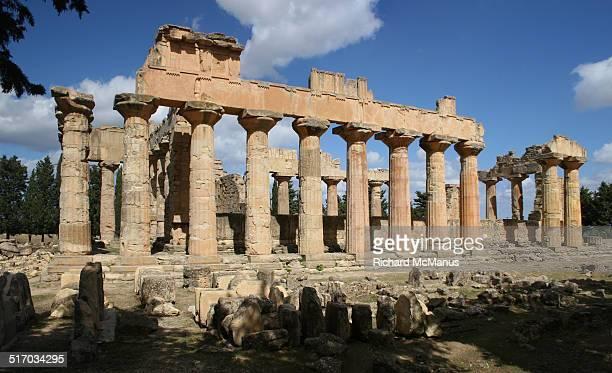 temple of jupiter, cyrene - ベンガジ ストックフォトと画像