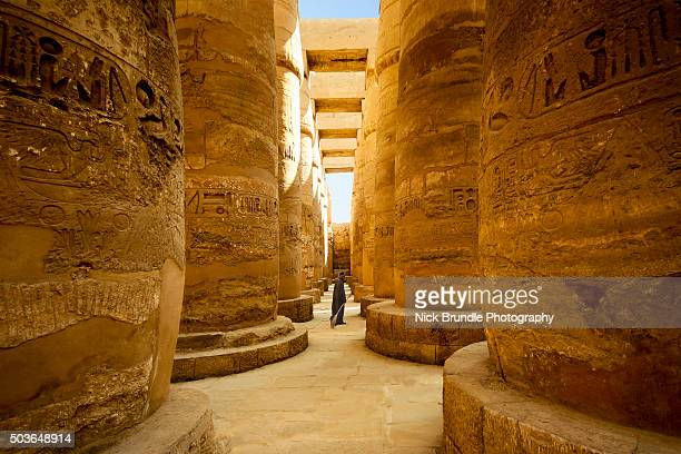 Temple of Karnak, Great Hypostyle Hall, Luxor, Egypt.