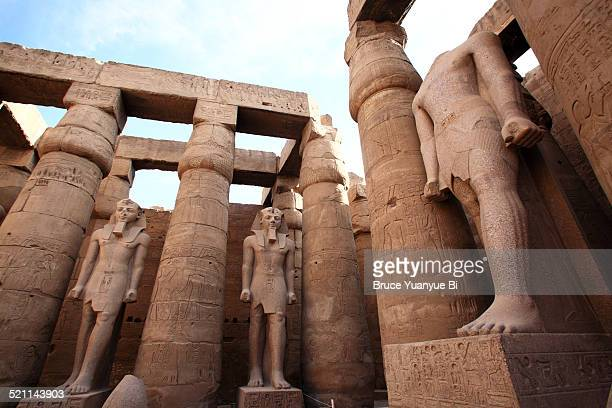 temple of karnak - temples of karnak stock pictures, royalty-free photos & images