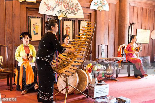 CONTENT] Temple of literature Hanoi Vietnam Traditional vietnamese orchestra